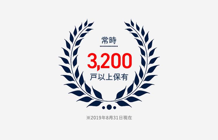 常時2,700戸以上保有